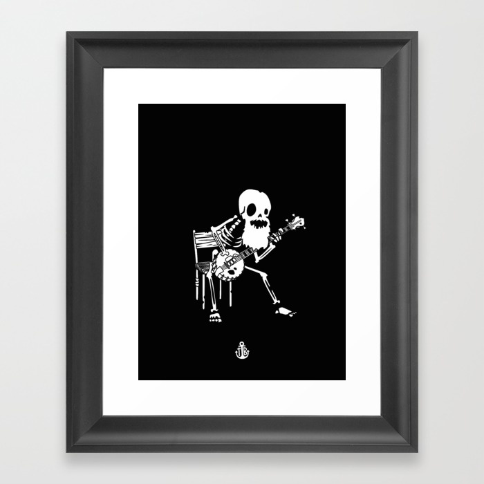 banjo-wildwest-framed-prints