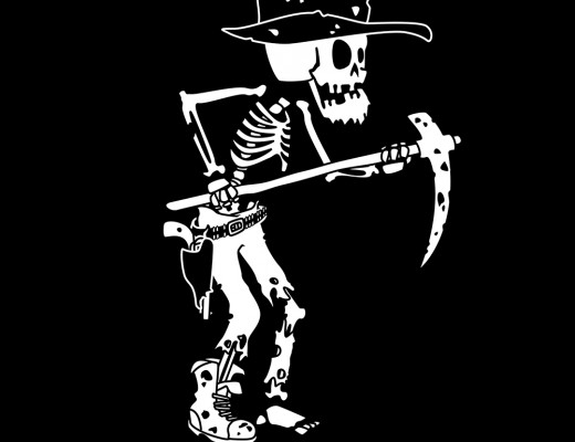 to the bones - skeleton - gold digger rick